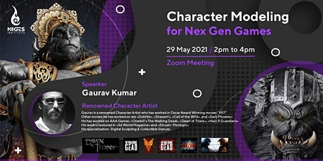 Character Modeling for Nex Gen Games by Gaurav tickets