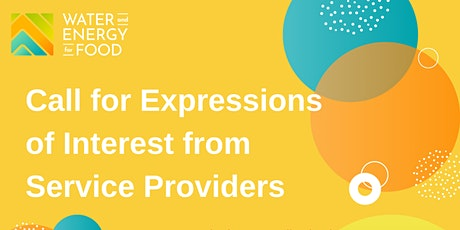 2021 Call for Expression of Interest (EOI) from Service Providers tickets