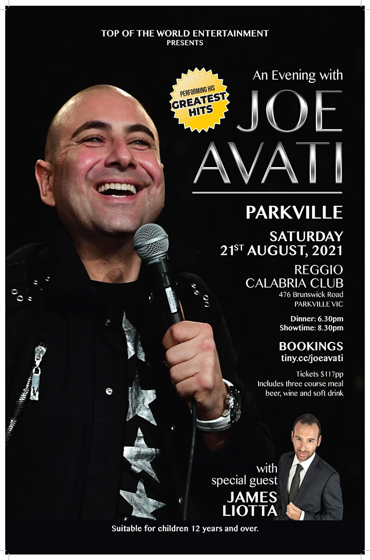 Viva Joe Avati Live - Dinner/comedy show at the Reggio Calabria Club image