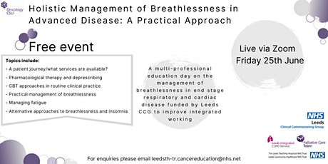 Holistic Management of Breathlessness in Advanced Disease billets