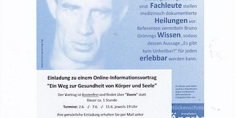 """Online-Informationsvortrag""""Ein Weg zur Gesundheit"""" Tickets"""
