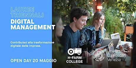 Laurea Triennale in Digital Management - Open Day Online e in presenza biglietti