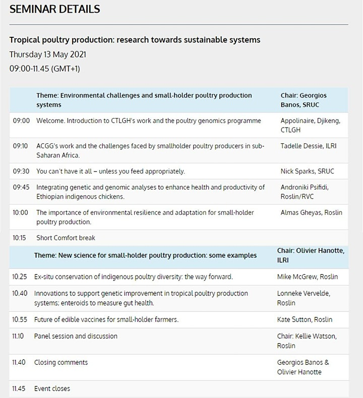 Tropical poultry production: research towards sustainable systems image