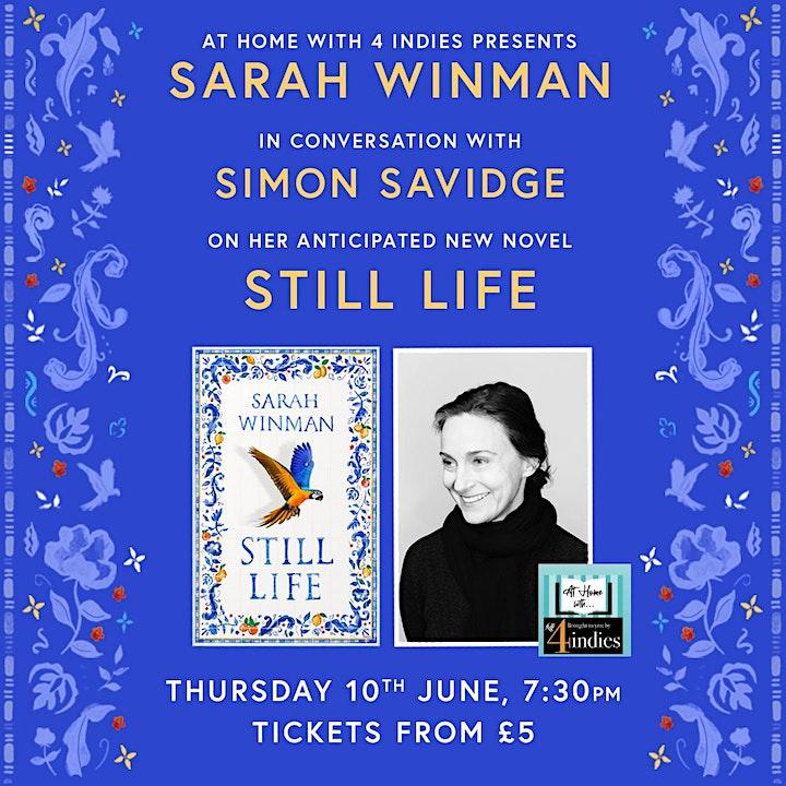 An evening with Sarah  Winman image