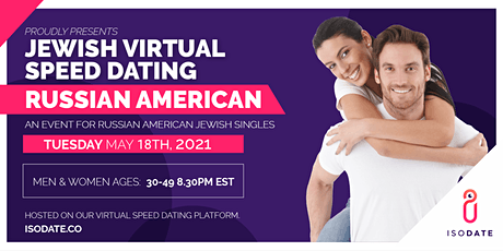 Isodate's Russian American  Jewish Virtual Speed Dating tickets