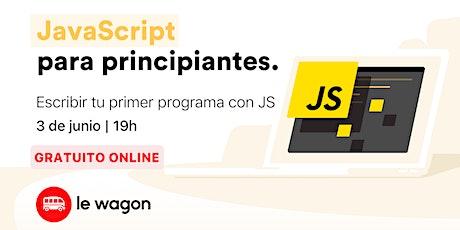 JavaScript para principiantes (Taller Online - ES) boletos
