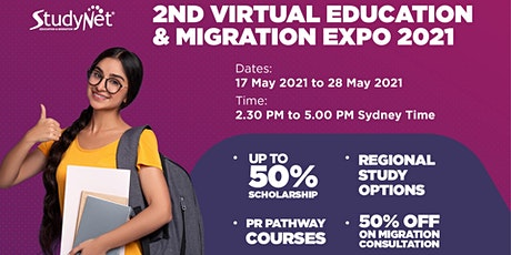 StudyNet's 2nd Virtual Education and Migration Expo 2021 tickets