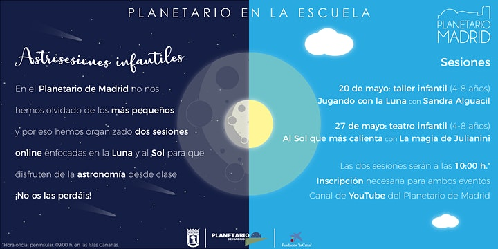 """Imagen de ASTROSESIONES. TALLER INFANTIL """"JUGANDO CON LA LUNA"""""""