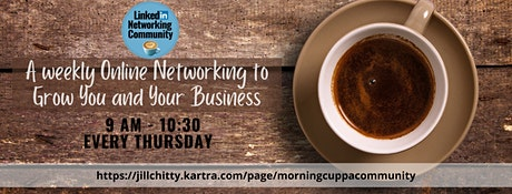 LinkedIn Morning Cuppa Community Networking Bradford tickets