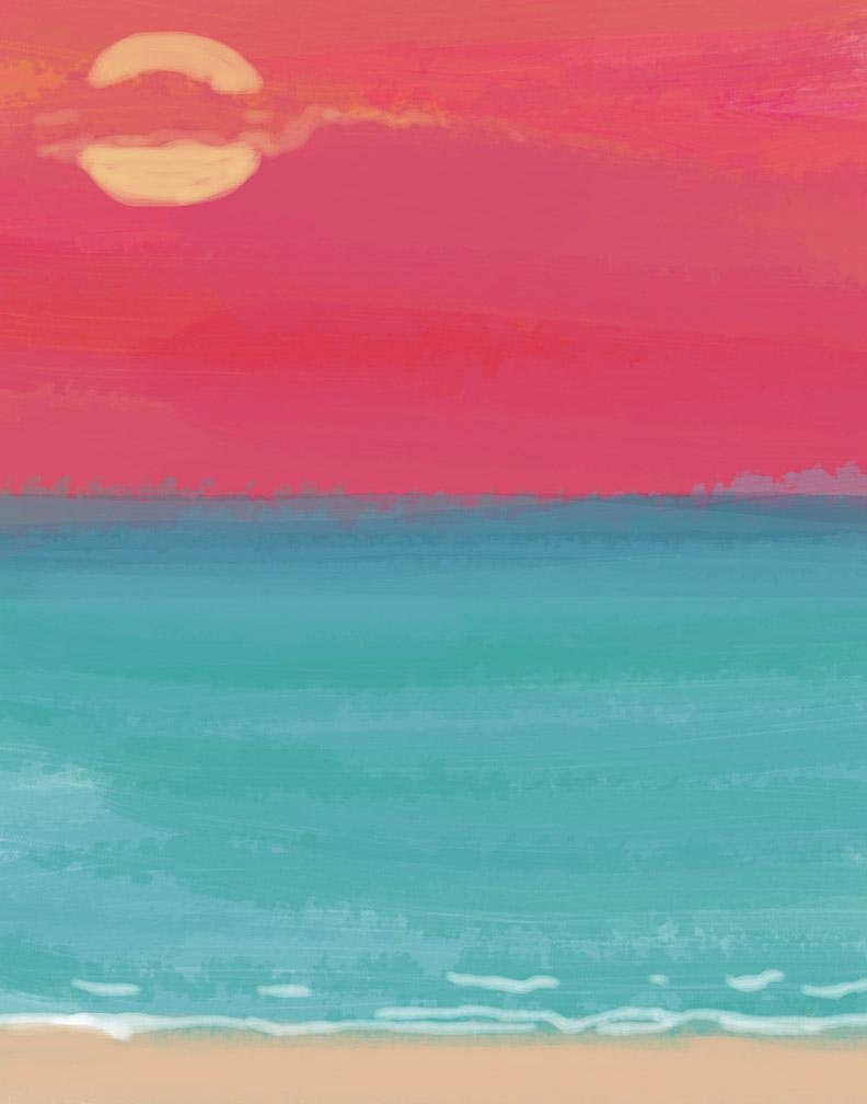 Beach Scene Painting Party