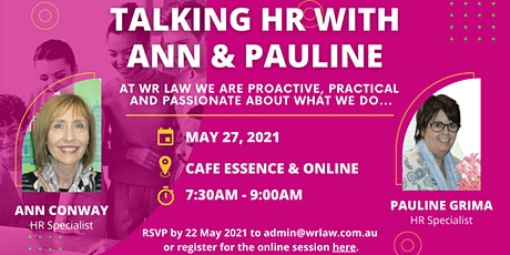 Talking HR with Ann & Pauline tickets