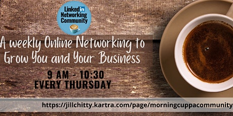LinkedIn Morning Cuppa Community Networking Manchester tickets