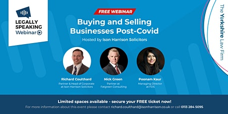 Free Webinar - Buying and Selling Businesses Post-Covid tickets
