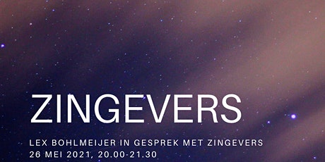 Zingevers. Lex Bohlmeijer in gesprek met professionals (tickets zaal) tickets