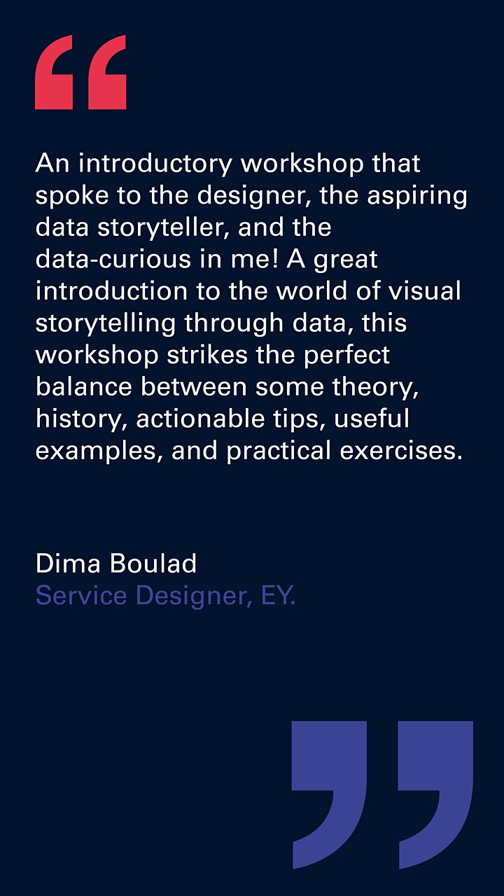 Visual storytelling with data image