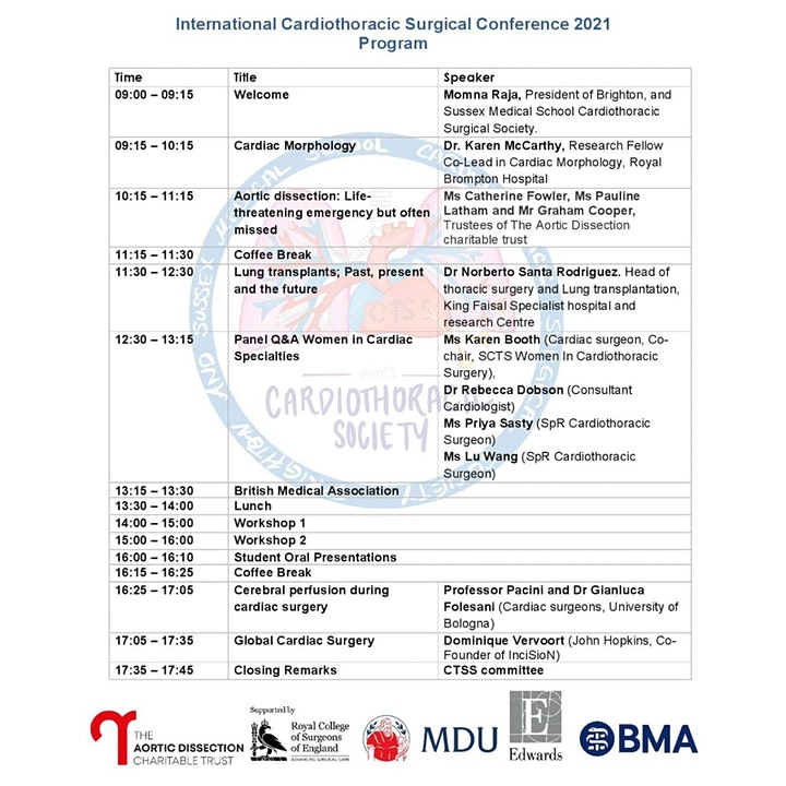 International Cardiothoracic Surgical Conference image