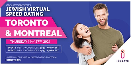 Isodate's Toronto & Montreal Jewish Virtual Speed Dating tickets