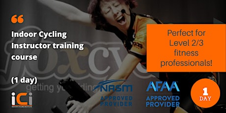 Indoor Cycling Instructor course (1day) ICI Bristol, 15 May 2021 tickets