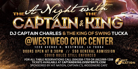 A NIGHT WITH THE CAPTAIN & THE KING tickets