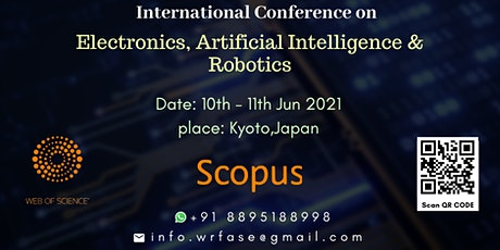 274th International Conference on Electronics, Artificial Intelligence Tickets