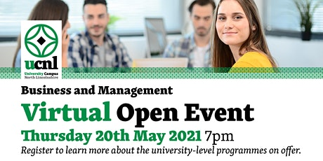 Business and Management Virtual Open Event tickets