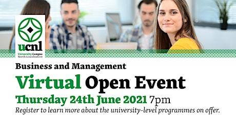 Business and Management Virtual Open Event - June biglietti