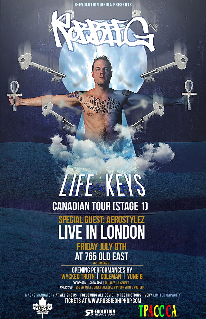 Robbie G live in London July 9th at 765 Old East Bar image