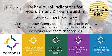 Behavioural Indicators for Recruitment & Team Building tickets