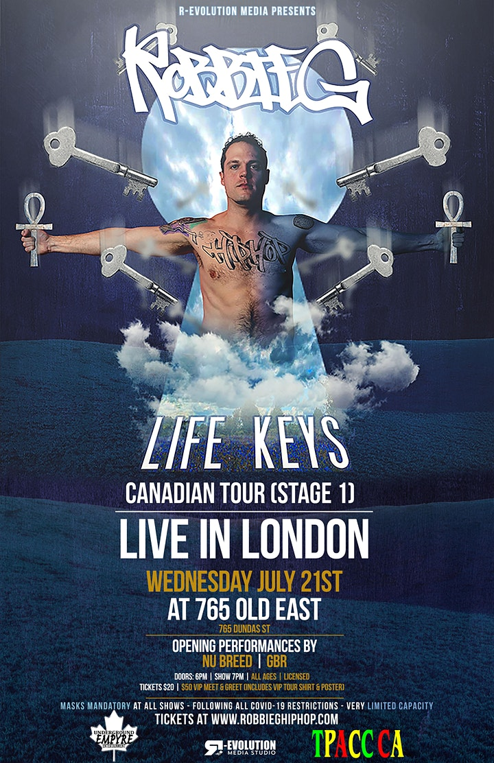 Robbie G live in London July 21st at 765 Old East Bar image