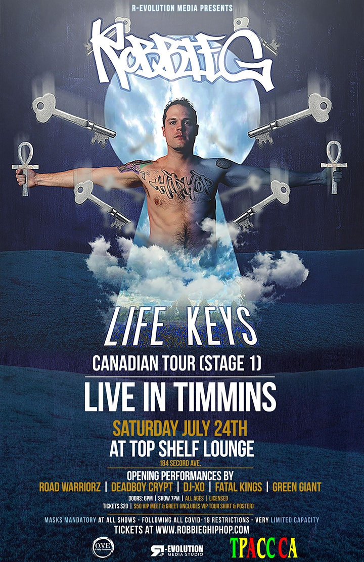Robbie G live in Timmins July 24th at Top Shelf Lounge image