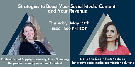 Strategies to Boost Your Social Media Content and  Your Revenue tickets