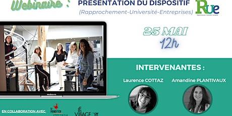 Présentation du dispositif RUE (Rapprochement-Université-Entreprises) billets