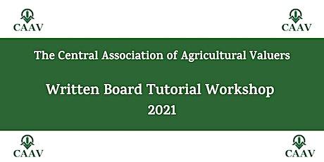 CAAV Written Board Workshop Webinar 2021 tickets