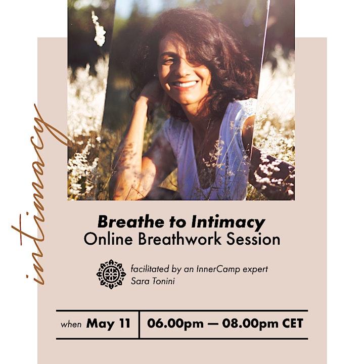 """Breathe to intimacy"" online breathwork session image"
