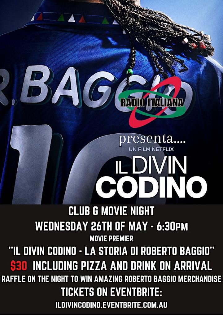 ClubG Movie Premiere - IL DIVIN CODINO - LA STORIA DI ROBERTO BAGGIO image