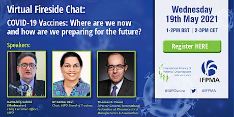 Fireside Chat on COVID-19 Vaccines: Where are we and what's in the future tickets