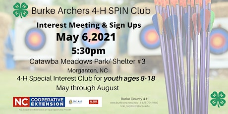 Burke Archer 4-H SPIN Club Interest / Sign Up Meeting tickets
