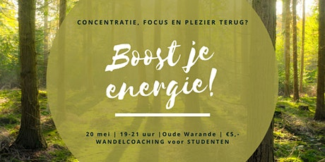 Boost je energie ! tickets