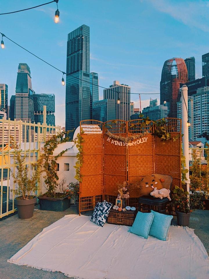 Rooftop Art Jam on Tote Bag image