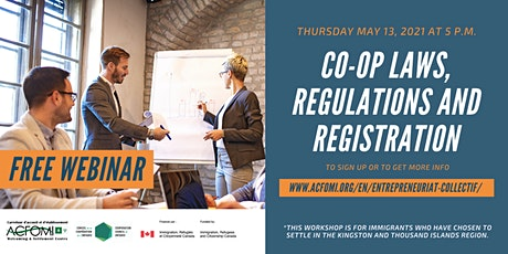Co-op laws, regulations, and registration (Bilingual Workshop) tickets