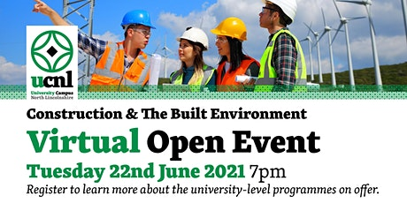 Construction and the Built Environment Virtual Open Event - June tickets
