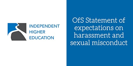 OfS Statement of expectations on harassment and sexual misconduct tickets
