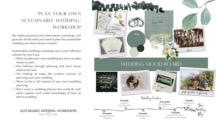 """Plan Your Own Sustainable Wedding"""" Workshop image"""