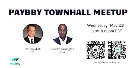 Paybby Townhall Meetup tickets