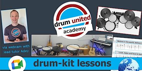 drum-kit lessons via webcam ~ weekdays entradas