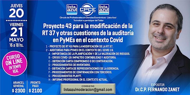 "Imagen de Curso 2 clases Auditoria Pymes contexto Covid  y Proy 43  modif de RT 37 """