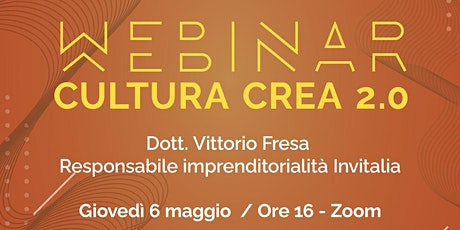 PUGLIA CREATIVA PRESENTA CULTURA CREA 2.0 IL 6/5/2021 h. 16 - Zoom biglietti