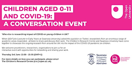 Children aged 0-11 and COVID-19:  A conversation event tickets