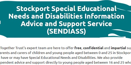Free, confidential, impartial support from SENDIASS tickets