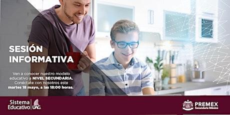 Sesión Informativa secundaria PREMEX Tepic boletos